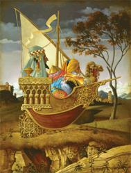 Three Wise Men in a Boat - James Christensen - World-Wide-Art.com