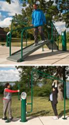 Landscape Structures now offers HealthBeat® Mobility and Stretch stations.