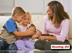 Home heating oil - happy family