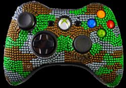 Green Camo Xbox 360 controller