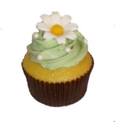 custom cupcake, daisy cupcake