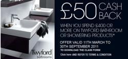 Twyford Bathrooms Cash Back Offer Ended