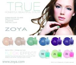 Zoya Nail Polish: True Collection and Fleck Effect