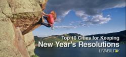 Livability.com names the top 10 cities for keeping New Year's Resolutions