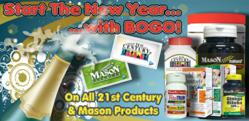 Vitafoundation.com Now Offering BOGO for all Mason and 21st Century Products through January 2012