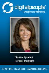 Susan Rylance, General Manager, Digital People, staffing, contract staffing, search, creative, interactive, marketing