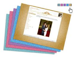 Create your wedding site and select your own built-in design