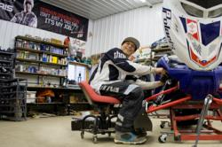Levi LaVallee upgrading his sled with FOX shocks