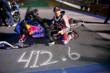 """Levi LaVallee at his 412', 6"""" snowmobile wolrd record distance jump mark"""