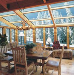 Four Seasons Sunrooms Wood Interior Glass Roof Sunroom