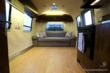 The interior space of the Green RV lit with LED lights from Elemental LED