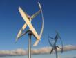 Pair of UGE-4K vertical axis wind turbines.