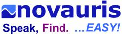 Novauris logo and tagline