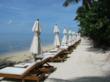 A private beach awaits those wishing a tropical escape
