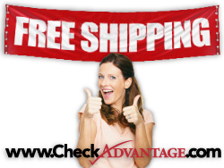 CheckAdvantage now offers free shipping