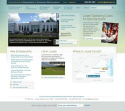 Louisa County Economic Development website homepage