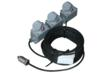 This 100 foot long explosion proof extension cord incorporates a robust design and three explosion proof outlets to provide a highly convenient and safe method of connecting multiple devices.