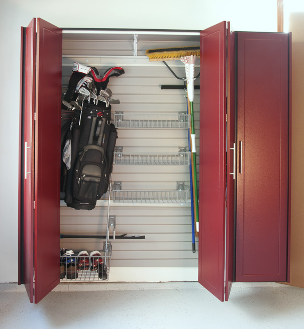 Garage CabinetIf You Are Wondering How To Organize A Garage With A  Compressor, Lawn Mower, Or Golf Clubs You Want To Hide, We Have The  Solution For You ...
