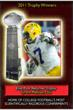 Tyrann Mathieu is 2011 CFPA Elite Punt Returner Trophy recipient.
