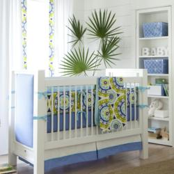 Lime Solar Flair Crib Bedding by Carousel Designs