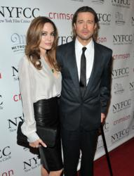 Pitt, Jolie at Metronome's Crimson for NYFCC Awards