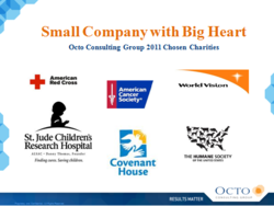 gI 73748 Charities logo Small Company with Big Heart   Octo Consulting Group Celebrates the Holidays With Over $60K in Charitable Donations