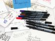 Pigma Calligrapher pens and writing samples
