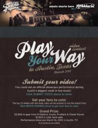 Bands can enter now through February 9, 2012