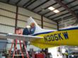 Logo Being Placed on New Seaplane After Arrival in Key West