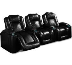 InteriorMark Aspen home theater seats in black leather