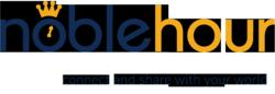 NobleHour logo w/ tagline