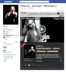 Upcoming jazz singer Thisbe Vos uses her Facebook page to connect with new fans.