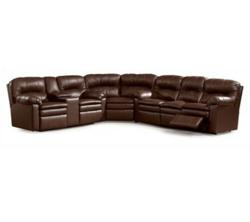 Lane Furniture Touchdown 292 Sectional Sofa in Brown Leather