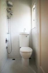 Small bathroom remodel by Hammer & Hand achieves lasting universal design benefits.