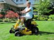 The Recharge Mower G2 on the lawn