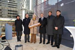 """Rob Speyer laid the foundation stone for the """"TaunusTurm"""" office tower,"""