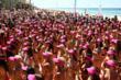 The 357 entrants for the Australia Bikini World Record attempt