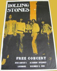 Rolling Stones Altamont Speedway Free Festival Concert Poster December 1969
