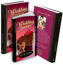 Wedding Favors - personalized romance novel available in hardcover or paperback.