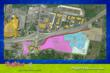 A site map of the 114-acre parcel for the Gaylord Entertainment and the Dollywood Company family entertainment zone, including the first sun and snow park in the U.S.