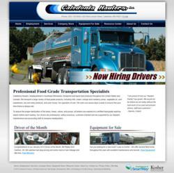 Caledonia Haulers, bulk liquid food transportation, the blu group, website design, new website design, website marketing