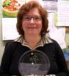 Andrea Corbett holds the award received by the hospital's dietary department
