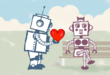 Still of 'Robot Love' Valentines Day ecard from Katie's Cards
