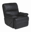 Alto Black REC-516 Series Top Grain Leather Recliner by Stanley Chair