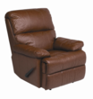 Alto Chestnut REC-516 Series Top Grain Leather Recliner by Stanley Chair