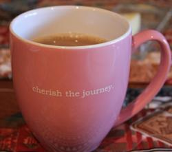 cherish the journey inspirational bistro mug