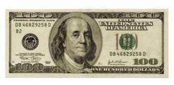 Paycheck advance $100 bill