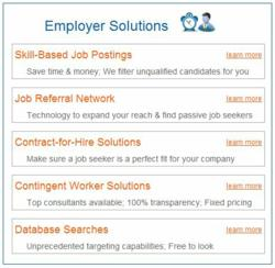 New job posting technology and other employer solutions for finding qualified job seekers
