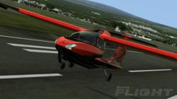 Icon A5 Aircraft taking off in Microsoft Flight.