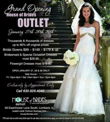 House of Brides Outlet Grand Opening Ad